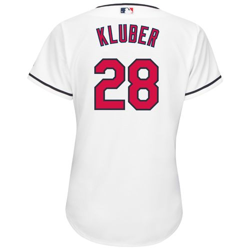 Majestic Women's Cleveland Indians Corey Kluber #28 Authentic Cool Base Home Jersey
