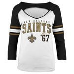 5th & Ocean Clothing Juniors' New Orleans Saints Established 3/4 Sleeve T-shirt