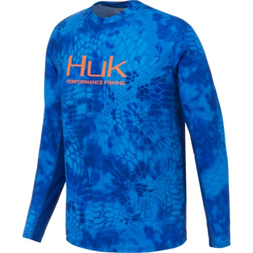 Huk Men's Kryptek Solid Long Sleeve Icon T-shirt