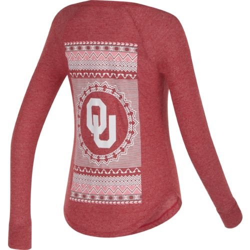 Chicka-d Women's University of Oklahoma Favorite V-neck Long Sleeve T-shirt