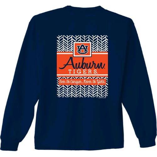 New World Graphics Women's Auburn University Herringbone Long Sleeve T-shirt