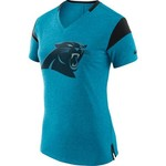 Nike Women's Carolina Panthers Fan Short Sleeve V-neck T-shirt - view number 1