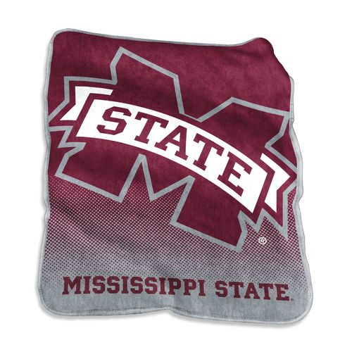 Logo Mississippi State University 50 in x 60 in Raschel Throw