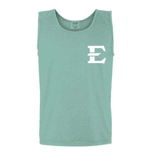 New World Graphics Women's East Tennessee State University Circle Flowers Tank Top - view number 2