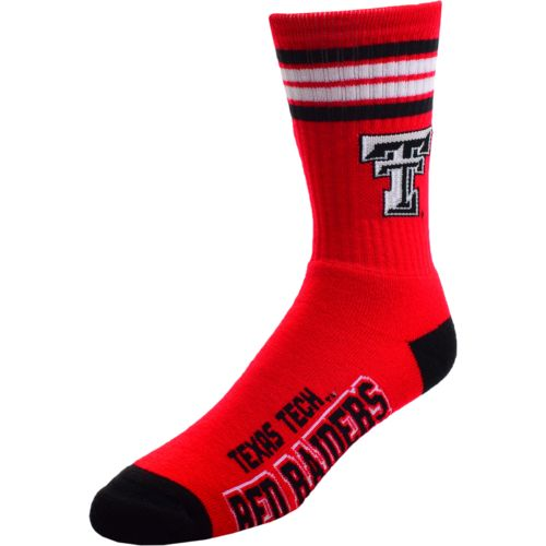 For Bare Feet Men's Texas Tech University Stripe Athletic Crew Socks - view number 1