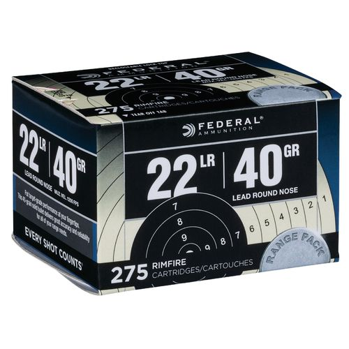 Federal Premium Range and Field .22 LR 40-Grain Rimfire Rifle Ammunition - view number 1