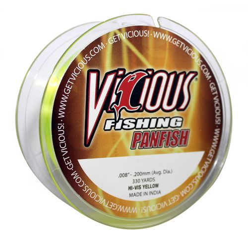 Display product reviews for Vicious 330 yds Hi-Vis Panfish Fishing Line