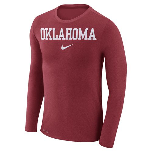 Nike Men's University of Oklahoma Dry Marled Long Sleeve T-shirt