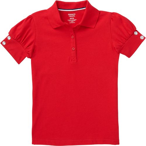 French Toast Toddler Girls' Puff Sleeve Polo