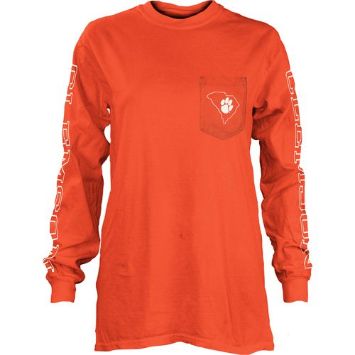 Three Squared Juniors' Clemson University Mystic Long Sleeve T-shirt