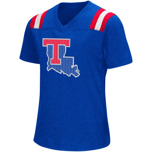 Colosseum Athletics Girls' Louisiana Tech University Rugby Short Sleeve T-shirt