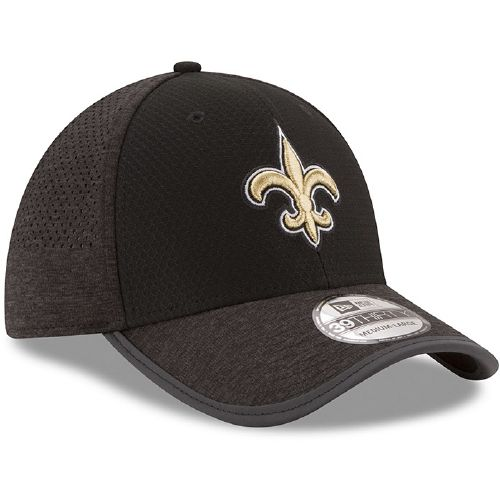 New Era Men's New Orleans Saints 39THIRTY Onfield Team Training Cap - view number 3