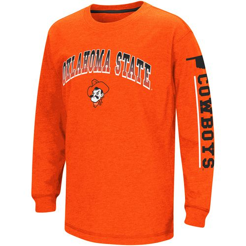 Colosseum Athletics Boys' Oklahoma State University Grandstand Long Sleeve T-shirt
