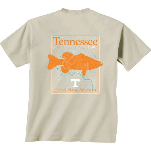 New World Graphics Men's University of Tennessee Angler Topo Short Sleeve T-shirt - view number 1