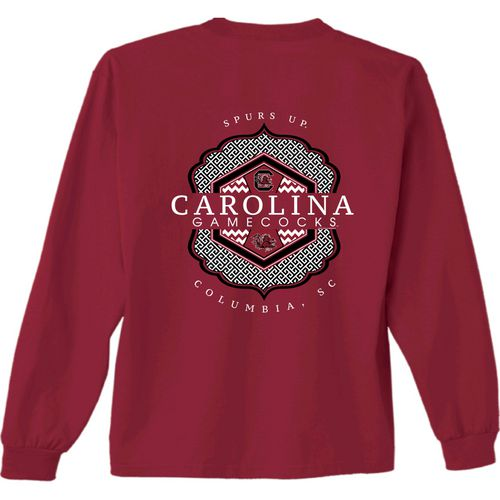 New World Graphics Women's University of South Carolina Faux Pocket Long Sleeve T-shirt