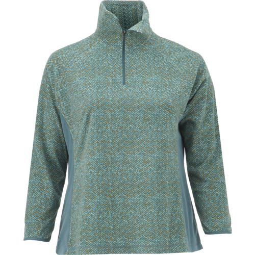 Columbia Sportswear Women's Glacial Fleece Print 1/2 Zip Plus Size Pullover