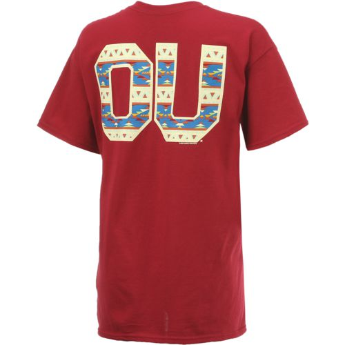 New World Graphics Women's University of Oklahoma Logo Aztec T-shirt - view number 2
