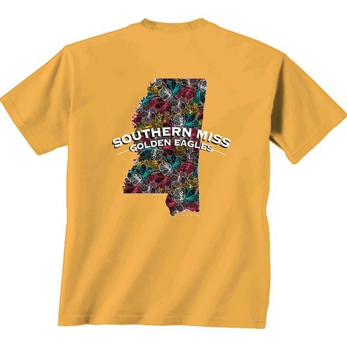 New World Graphics Women's University of Southern Mississippi Comfort Color Puff Arch T-shirt