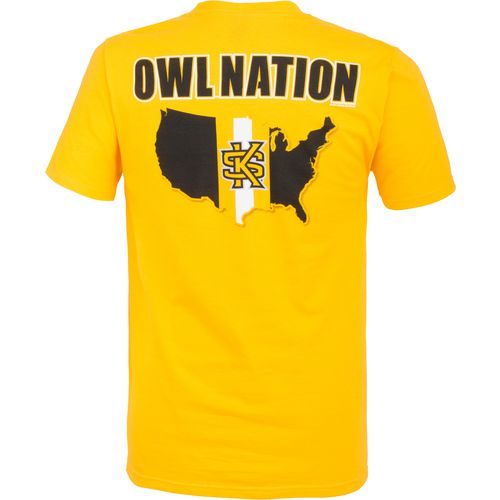 New World Graphics Men's Kennesaw State University Stripe Nation T-shirt