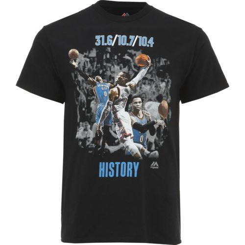 Majestic Men's Oklahoma City Thunder Russell Westbrook History T-shirt