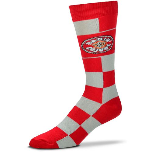 For Bare Feet University of Louisiana at Lafayette Jumbo Checkered Crew Dress Socks