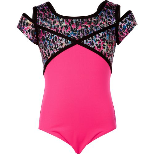 Capezio Girls' Future Star Jungle Sprint Cut-Out Leotard