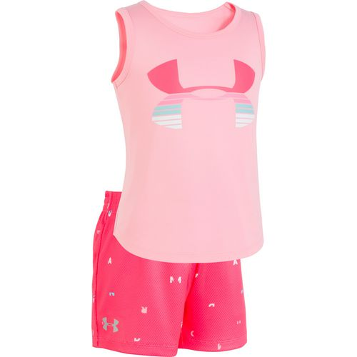Under Armour Girls' Scramble Big Logo Tank Top and Shorts Set