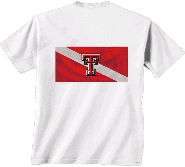 Nice New World Graphics Men's Texas Tech University Diver Down T-shirt for sale