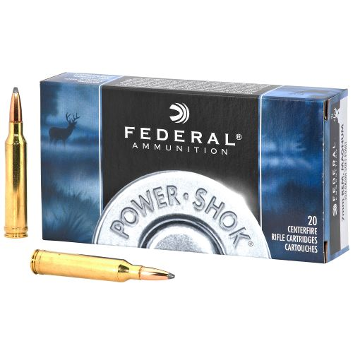 Federal Premium Ammunition Power-Shok 7mm Remington Magnum 150-Grain Centerfire Rifle Ammunition
