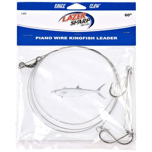 "Display product reviews for Eagle Claw 60"" - 3 Hook Piano Wire Kingfish Leader Rig"