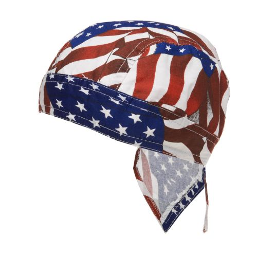Display product reviews for ZANHeadgear Flydanna Wavy American Flag Bandanna