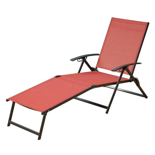 Mosaic Folding Sling Chaise Lounge - view number 1
