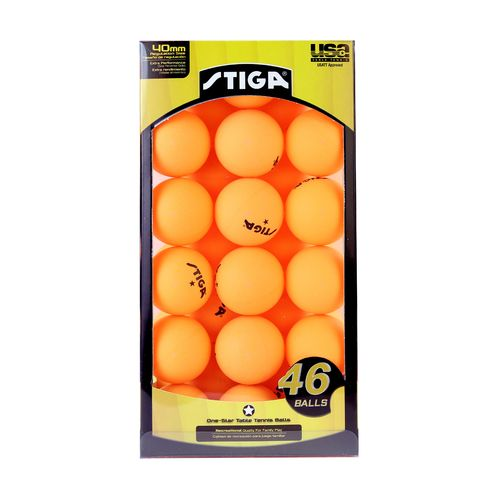 Display product reviews for Stiga® One-Star Table Tennis Balls 46-Pack