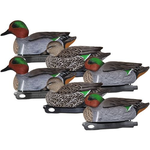 Hard Core 3-D Green-Wing Teal Duck Decoys 6-Pack