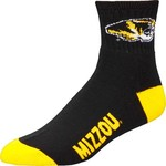 For Bare Feet Men's University of Missouri Team Color Quarter Socks