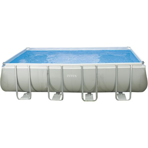 INTEX 18 ft x 9 ft x 52 in Rectangular Ultra Frame Pool Set with 1,200 gal Filter Pump