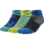 Nike Boys' Graphic Cotton Cushion Low-Cut Socks 3-Pack