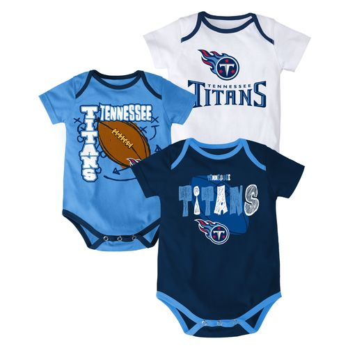 NFL Infant Boys' Tennessee Titans 3 Point Spread Bodysuits 3-Pack