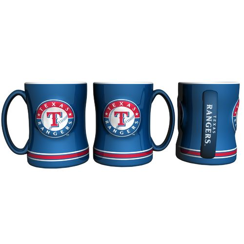 Display product reviews for Boelter Brands Texas Rangers 14 oz. Relief Style Coffee Mug