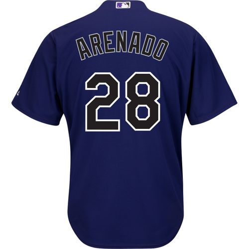 Majestic Men's Colorado Rockies Nolan Arenado #28 Cool Base® Alternate Jersey
