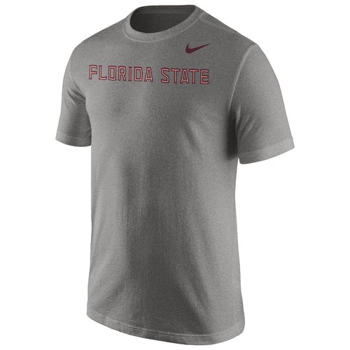 Nike™ Men's Florida State University Cotton Short Sleeve Wordmark T-shirt