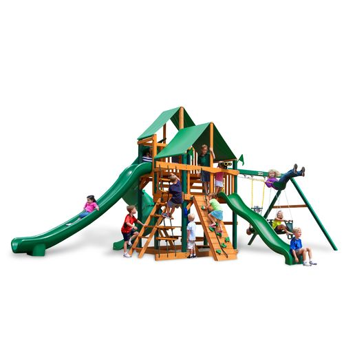 Gorilla Playsets™ Great Skye II Swing Set with Timber Shield™ and Deluxe Vinyl Canopy - view number 1
