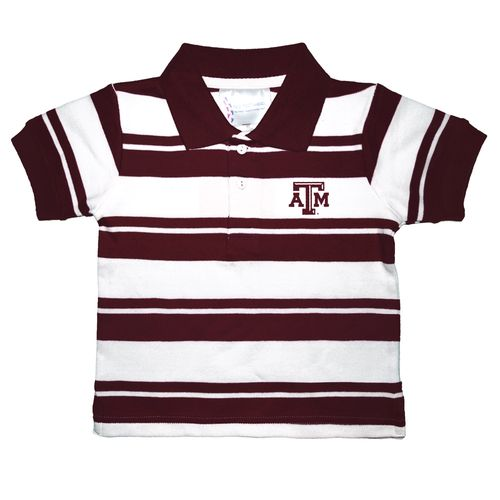 Two feet ahead toddlers 39 texas a m university rugby golf for Texas a m golf shirt