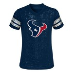 NFL Girls' Houston Texans Team Logo Opal Burnout T-shirt
