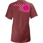 Three Squared Juniors' University of Oklahoma Quatrefoil State Monogram T-shirt