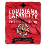 The Northwest Company University of Louisiana at Lafayette Label Raschel Throw - view number 1