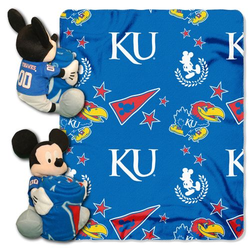 The Northwest Company University of Kansas Mickey Mouse Hugger and Fleece Throw Set - view number 1