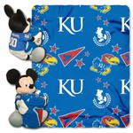 The Northwest Company University of Kansas Mickey Mouse Hugger and Fleece Throw Set