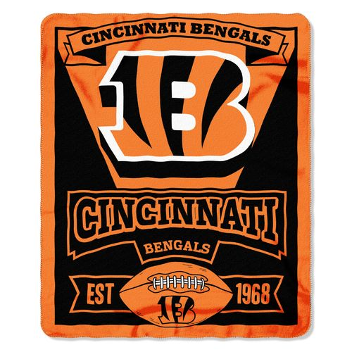 The Northwest Company Cincinnati Bengals Marquee Fleece Throw