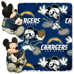 The Northwest Company San Diego Chargers Minnie Mouse Hugger and Fleece Throw Set - view number 1